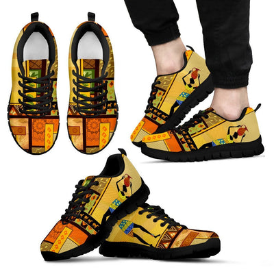 African Girl Design Men Sneakers