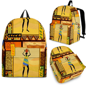 African Girl Design Premium Backpack