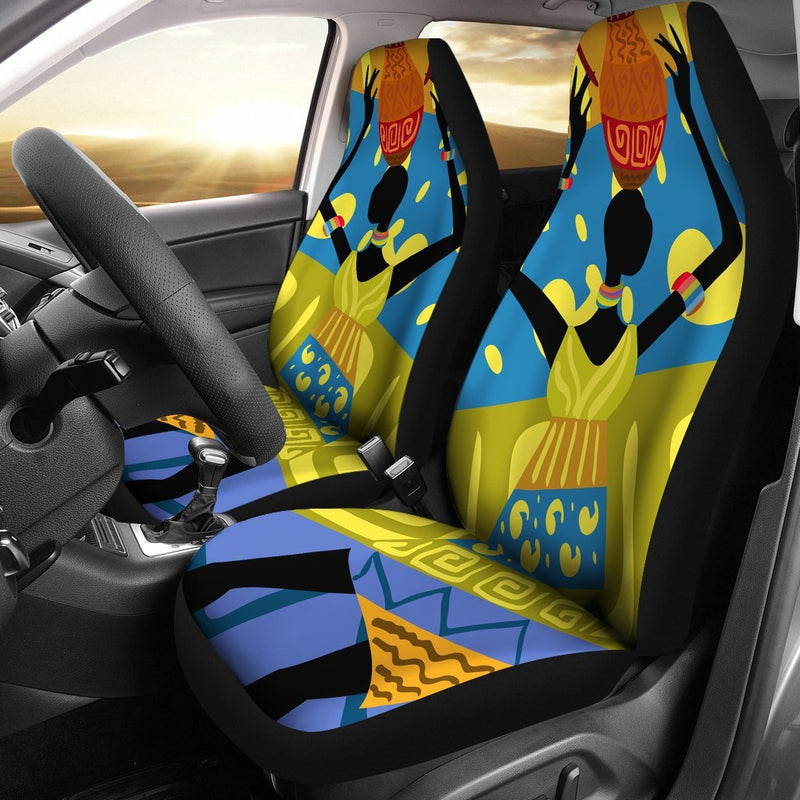 African Girl Design Universal Fit Car Seat Covers
