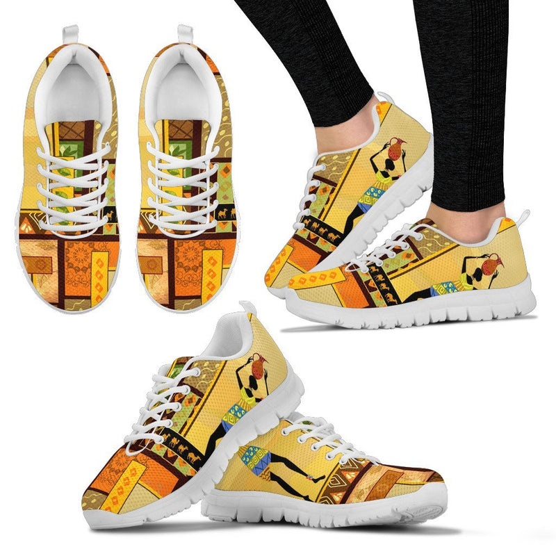 African Girl Design Women Sneakers