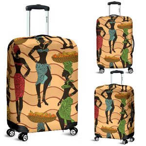 African Girl Pattern Luggage Cover Protector