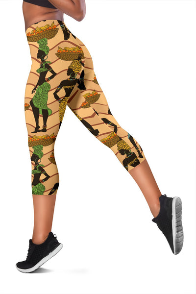 African Girl Pattern Women Capris