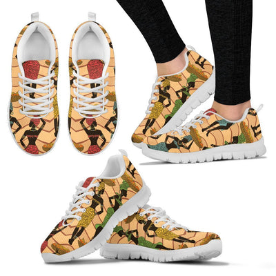 African Girl Pattern Women Sneakers