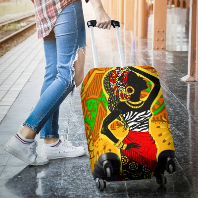 African Girl Print Luggage Cover Protector