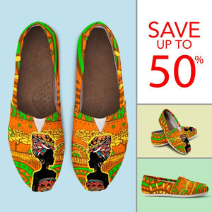 African Girl Print Women Casual Shoes-JorJune.com