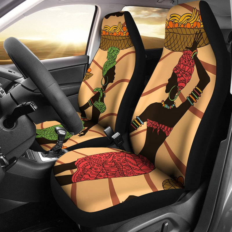 African Girl Safari Universal Fit Car Seat Covers