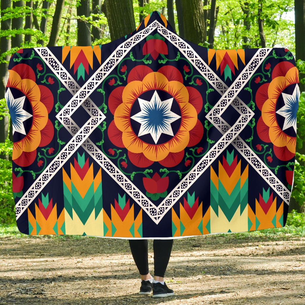 African Kente Hooded Blanket-JORJUNE.COM