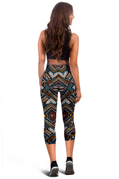 African Kente Pattern Women Capris