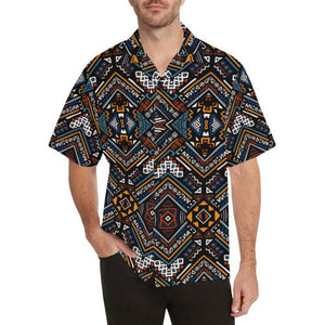 African Kente Print Men Hawaiian Shirt