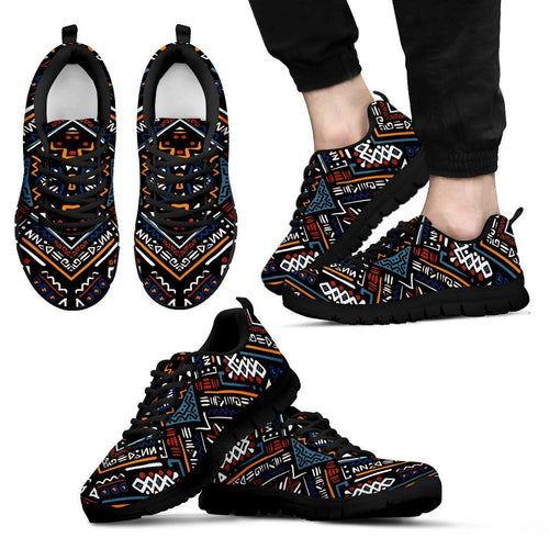 African Kente Print Men Sneakers