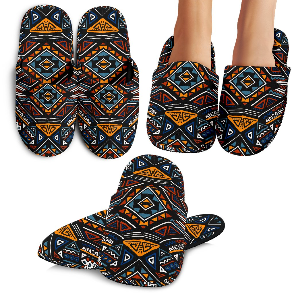 African Kente Print v2 Slippers