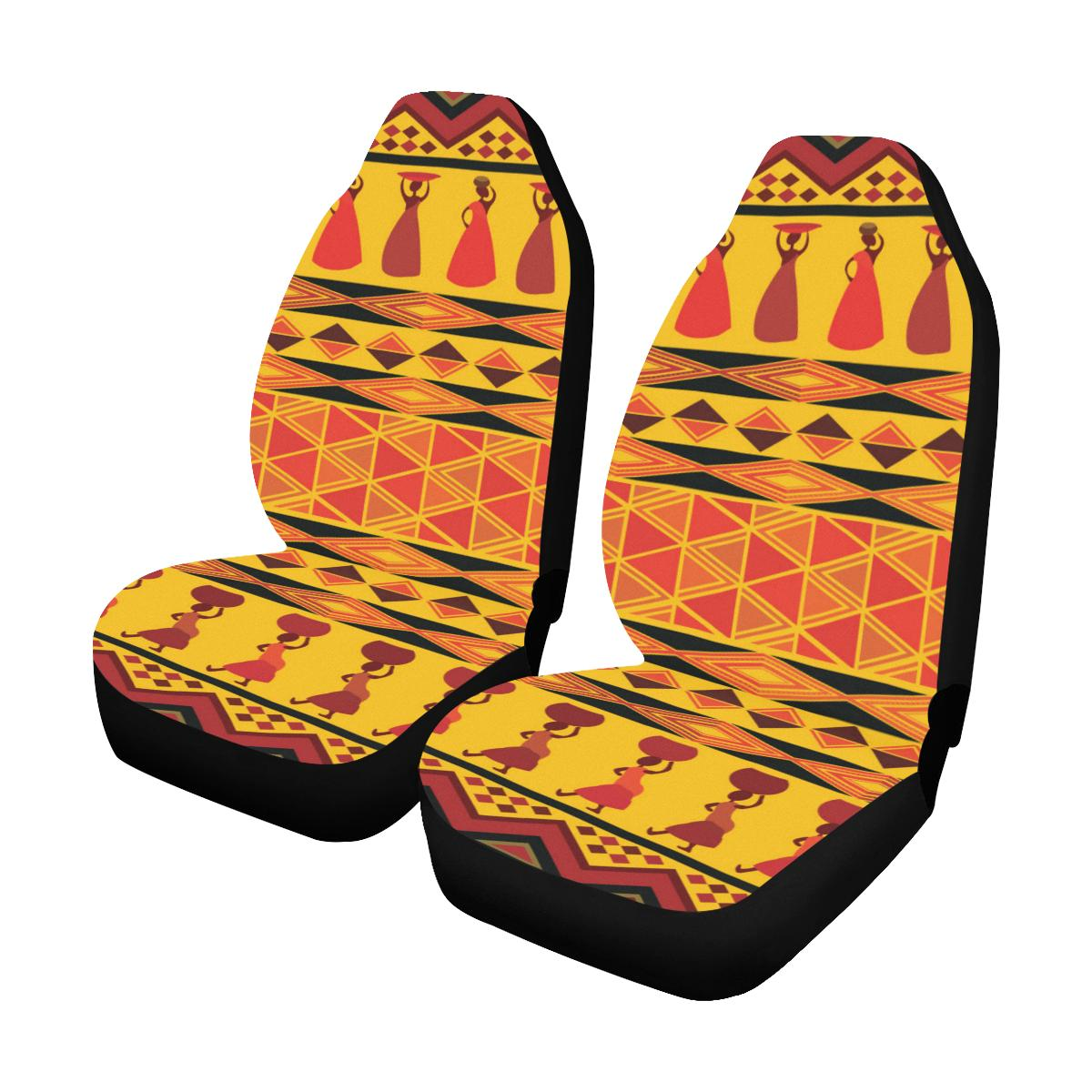 African Pattern Print Design 01 Car Seat Covers (Set of 2)-JORJUNE.COM