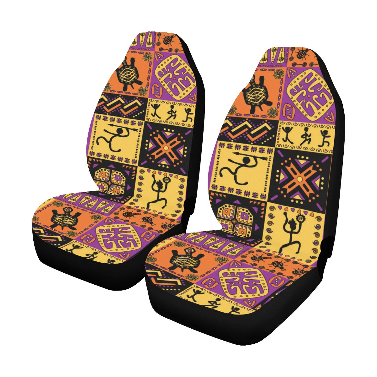 African Pattern Print Design 02 Car Seat Covers (Set of 2)-JORJUNE.COM