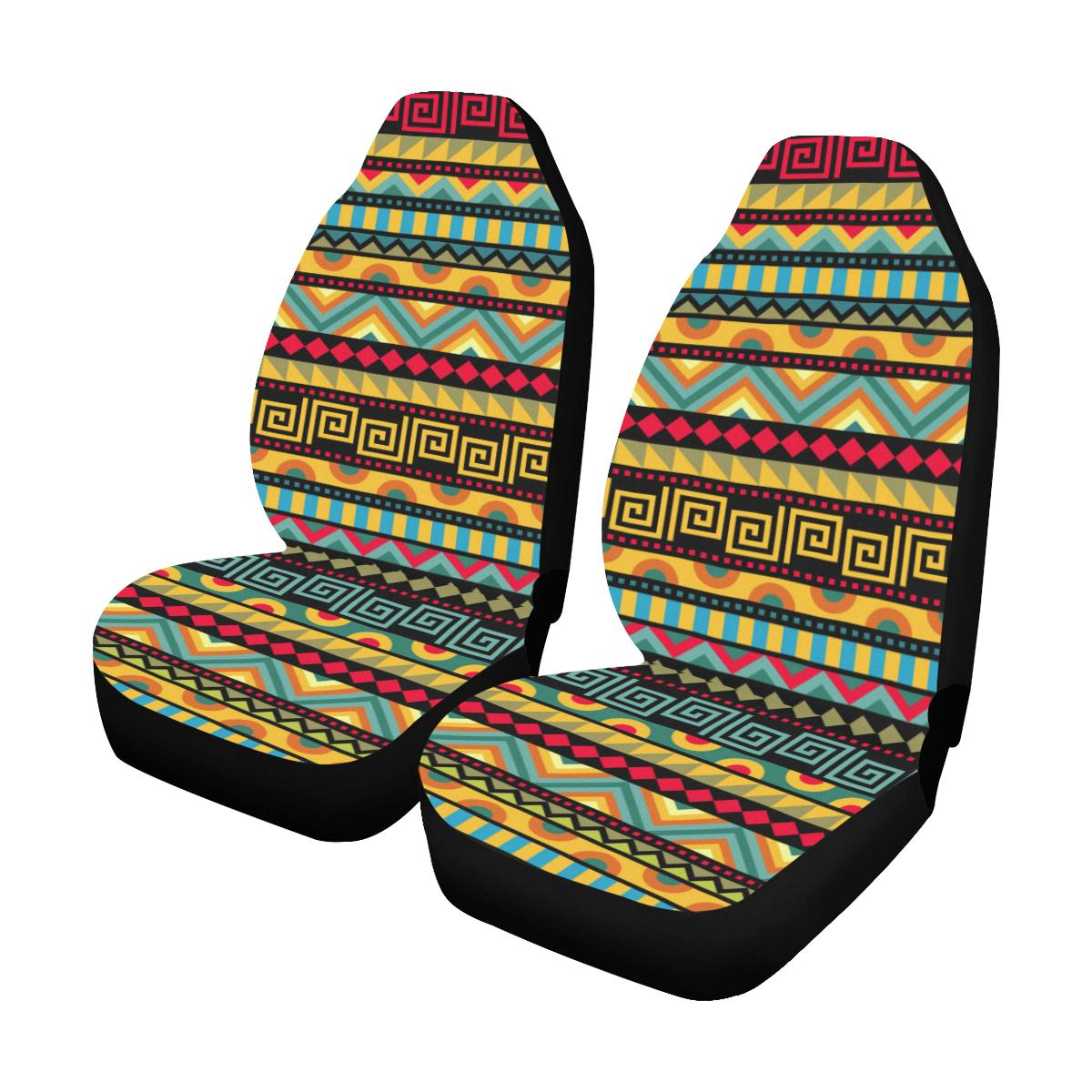 African Pattern Print Design 03 Car Seat Covers (Set of 2)-JORJUNE.COM