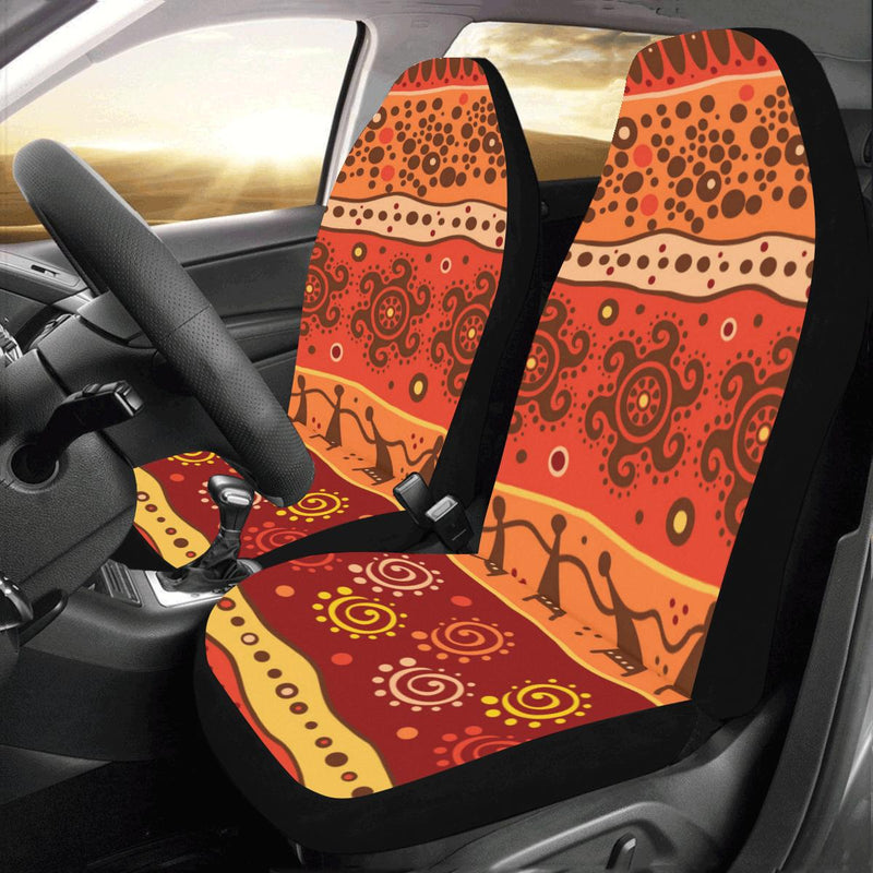 African Pattern Print Design 04 Car Seat Covers (Set of 2)-JORJUNE.COM