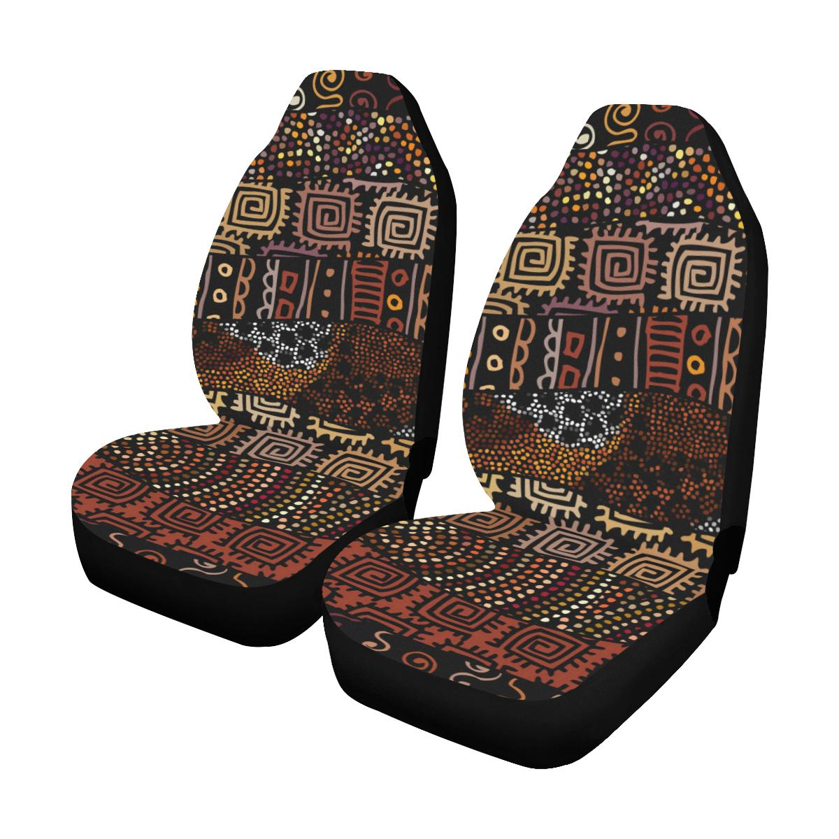 African Pattern Print Design 07 Car Seat Covers (Set of 2)-JORJUNE.COM