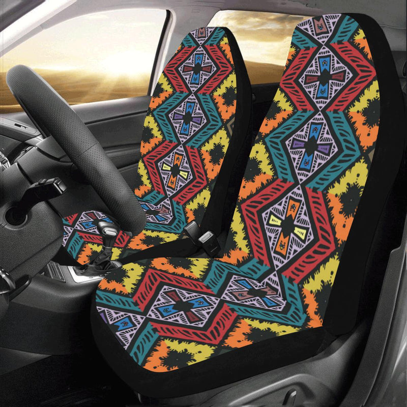 African Pattern Print Design 08 Car Seat Covers (Set of 2)-JORJUNE.COM