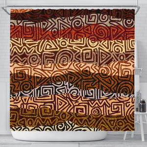 African Pattern Print Shower Curtain