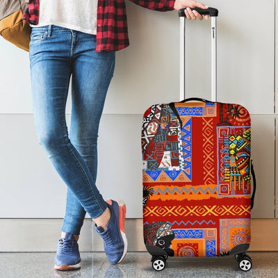 African Print Pattern Luggage Cover Protector