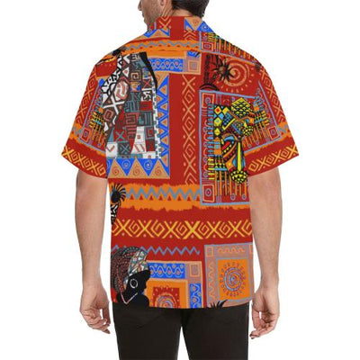 African Print Pattern Men Hawaiian Shirt