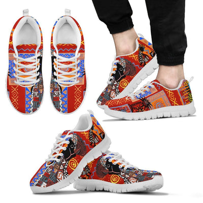 African Print Pattern Men Sneakers