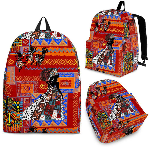 African Print Pattern Premium Backpack