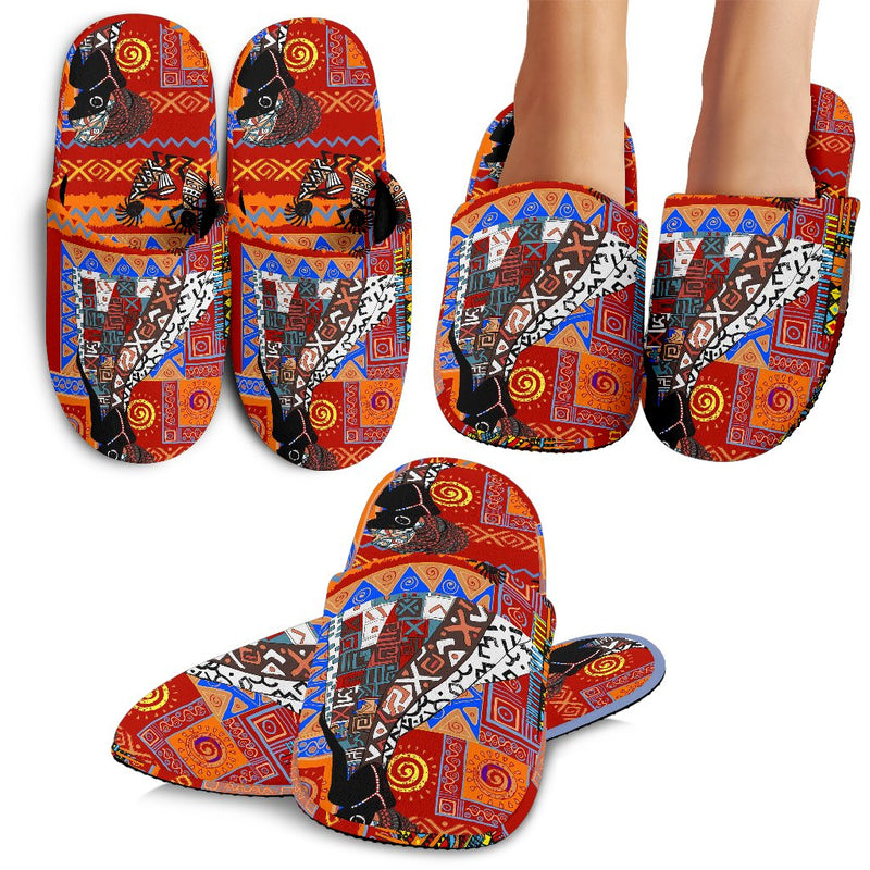 African Print Pattern Slippers
