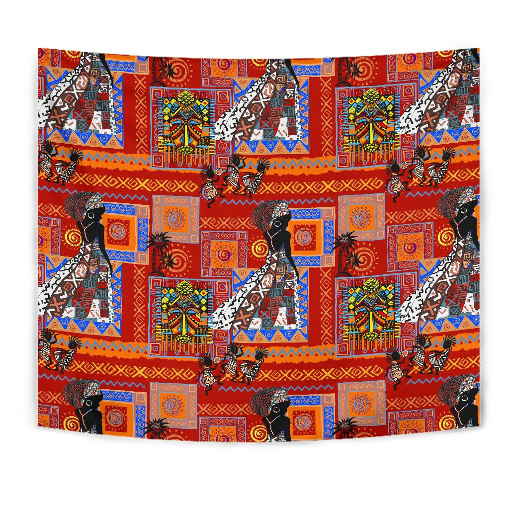 African Print Pattern Tapestry