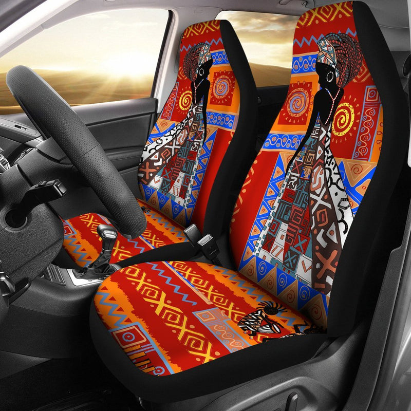 African Print Pattern Universal Fit Car Seat Covers