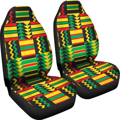 African Zip Zag Print Pattern Universal Fit Car Seat Covers