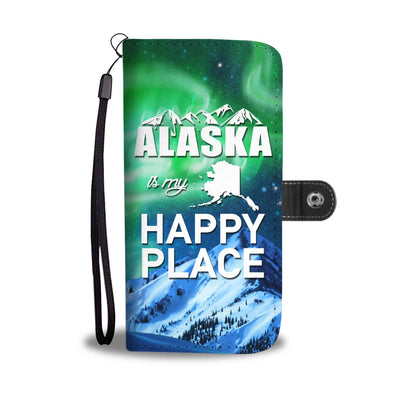 Alaska is my happy place Wallet Phone Case