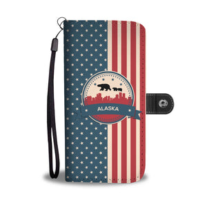 Alaska US flag Wallet Phone Case