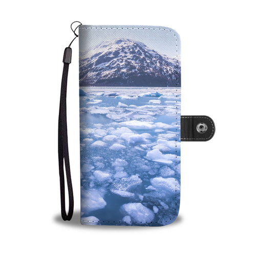 Alaska water nature ice glacier blue Wallet Phone Case