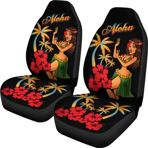 Aloha Hawaiian Girl Universal Fit Car Seat Covers