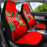 Aloha Hawaiian tropical flower Universal Fit Car Seat Covers