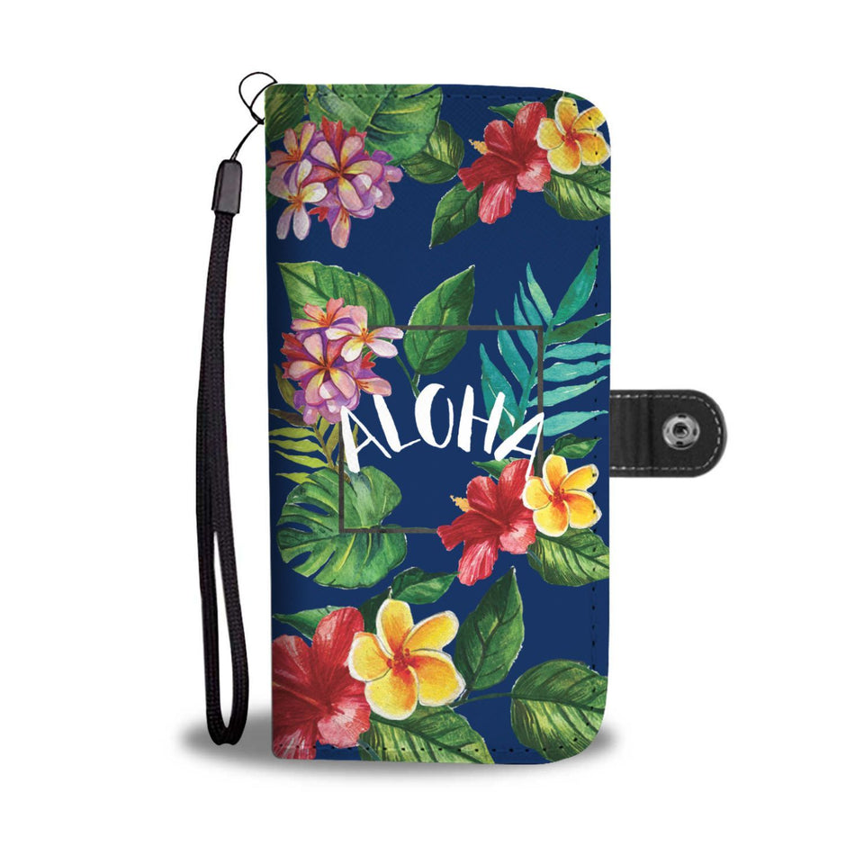 Aloha hibiscus Hawaii flower Wallet Phone Case
