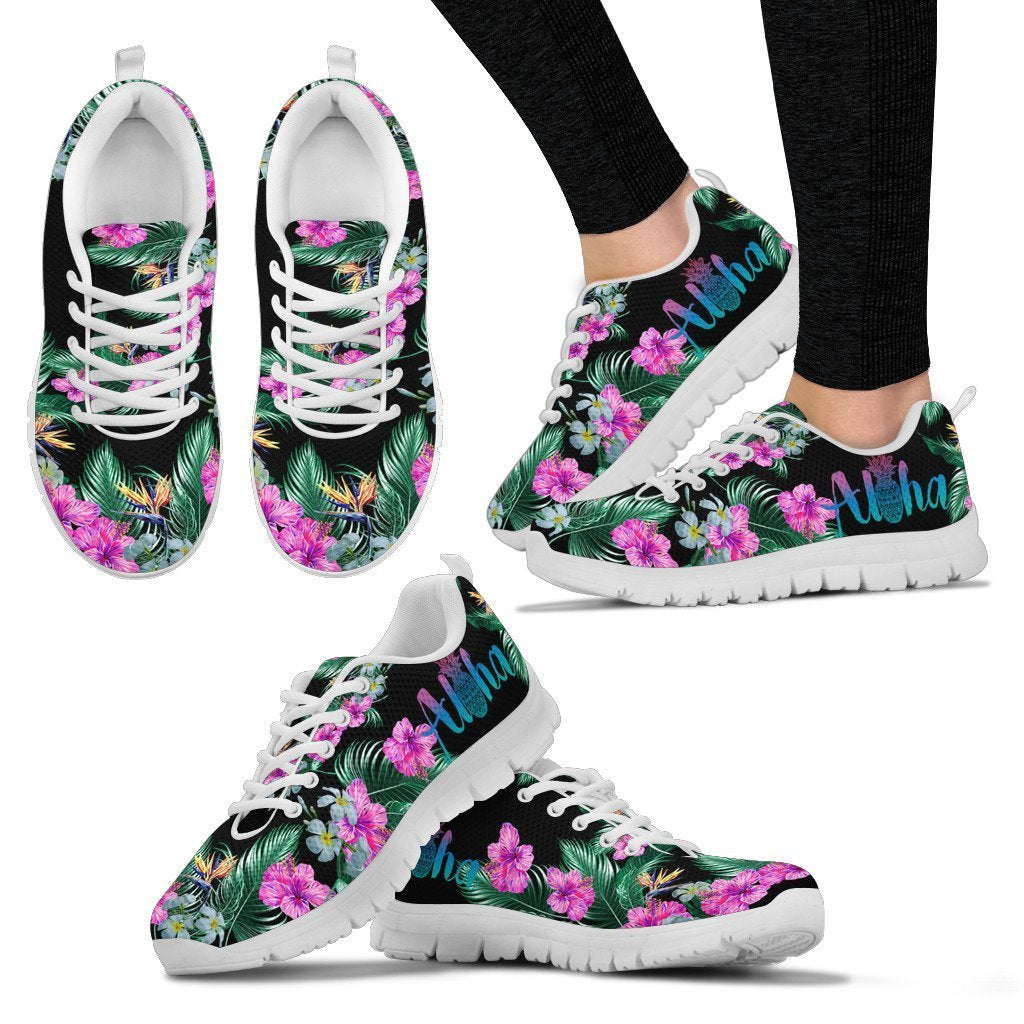 Aloha Hibiscus Hawaiian Flower Women Sneakers