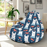 Alpaca Love Pattern Print Design 05 Bean Bag Chair-JORJUNE.COM