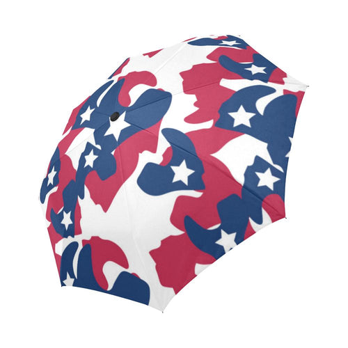 American flag Camo Print Automatic Foldable Umbrella
