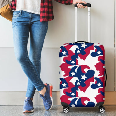 American flag Camo Camouflage Print Luggage Cover Protector