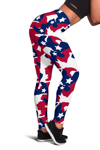 American flag Camo Print Women Leggings