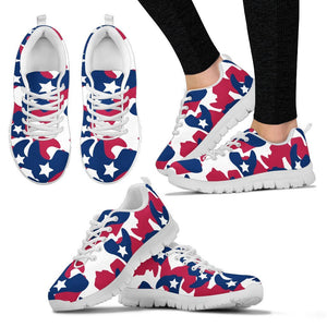 American flag Camo Camouflage Print Women Sneakers