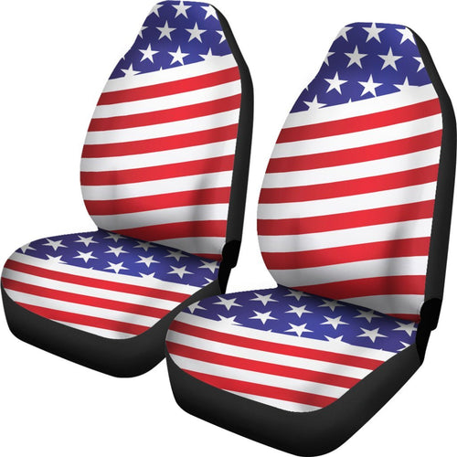 American Flag Print Universal Fit Car Seat Covers