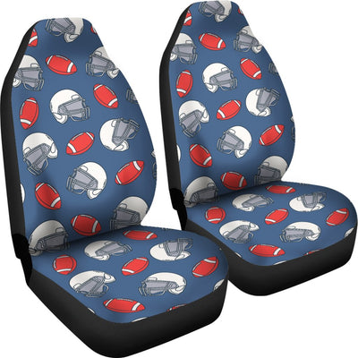 American Football Helmet Design Pattern Universal Fit Car Seat Covers
