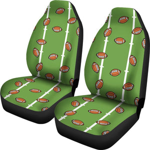 American Football On Field Themed Print Universal Fit Car Seat Covers