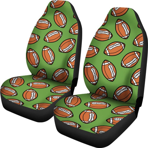 American Football On Green Design Universal Fit Car Seat Covers