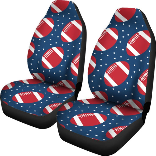 American Football Star Design Pattern Universal Fit Car Seat Covers