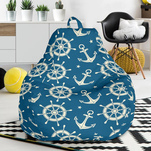 Anchor Pattern Print Design 01 Bean Bag Chair-JORJUNE.COM