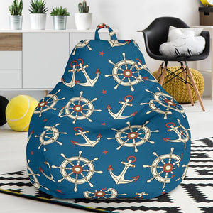 Anchor Pattern Print Design 02 Bean Bag Chair-JORJUNE.COM