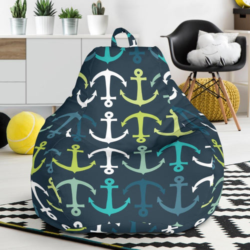 Anchor Pattern Print Design 03 Bean Bag Chair-JORJUNE.COM